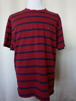 Tommy Jeans Hilfiger Men's Red and Blue Flag Logo T-Shirt Size Large USA