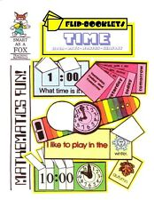 Kindergarten, First Grade Reproducible TIME Flip Books (NEW)