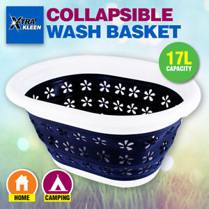 Xtra Kleen® 17L Collapsible Laundry Basket Space Saving Easy To Store