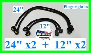 x4 Repair Harness O2 Oxygen Sensor Jeep Wrangler Grand Cherokee Liberty JK