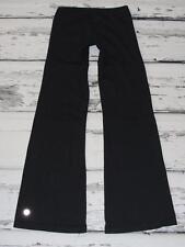 LULULEMON~BLACK~VINTAGE (HUGE REFLECTIVE LOGO) LUON®~STRETCH YOGA PANTS~8 TALL