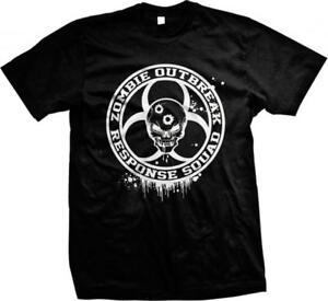 Zombie Outbreak Response Squad Living Dead Walkers Survival Guns  Mens T-shirt