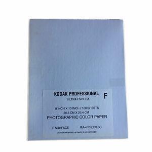 "100 Sheets Kodak Endura Photographic Paper Glossy 8x10"" RA4 Processing Dark Room"