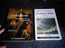 Alphonse de Lamartine :Poèmes du Terroir et du Coeur /Cent jours Rives du Léman