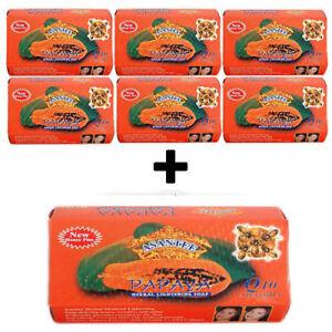 Asantee Papaya & Honey + Q10 Soap  7 x 125g *ASANTEE THAILAND*
