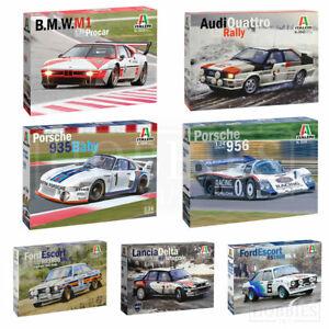 Italeri 1/24 Race Car Kits Audi BMW M1 Ford RS1800 Lancia Delta Rally Sports