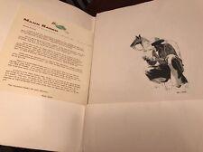 Vintage 1960s MANN RANCH Neil C Baker Western Etchings Portfolio Jean Adv