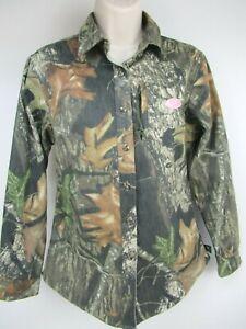 Mossy Oak Womens Size XS Camo Long Sleeve Button Up Collared Shirt