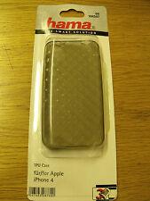 Hama 104597 TPU Custodia in Plastica Trasparente Apple iPhone 4g