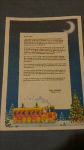 Truly Personalised Letter From Santa And North Pole Stamped Envelope Santa Train