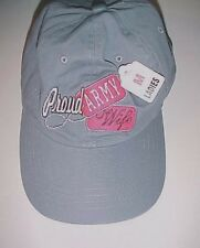 Proud Army Wife Ladies Gray Baseball Cap Hat M New