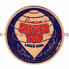 Tough 1940s Silver Top Duquesne Beer 3½ inch coaster Tavern Trove