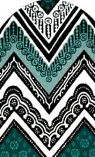20 water slide nail  manicure  black teal white full nail mandala Trending