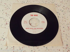 """The Ruse Bring Back The Hostages Commando Song  Mike Barba 1980 45 rpm 7"""" Iran"""