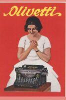 "TARGA VINTAGE ""OLIVETTI 1920"" PUBBLICITA', POSTER, TYPEWRITER ADVERTISING, PLATE"