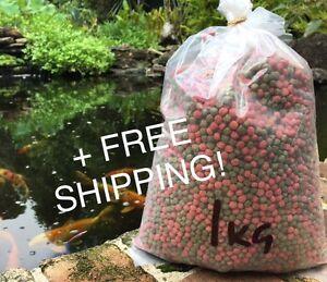Fish Food Koi - Floating 6mm Med Pellet 1kg Bulk + FREE SHIPPING!