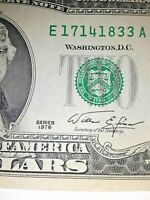 SERIES OF 1976 $2 DOLLAR NOTE  WITH STAMP UNCIRCULATED RARE NOTE CRISP      9/24