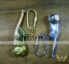 COMBO GIFT SET OF NAUTICAL SHIP MARITIME 3 '' WHISTLE BOSUN PIPE COLLECTIVE ITEM