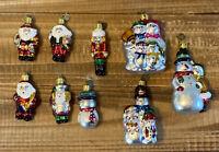 Lot of 9 Kurt S.Adler KSA Glass Christmas Ornaments