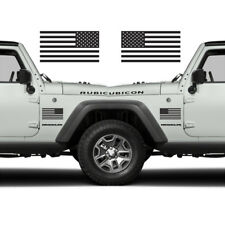 Subdued American Flags Tactical Military USA Decal JEEP 5