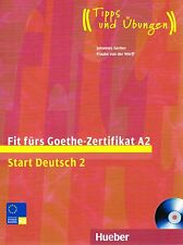 Hueber FIT FURS GOETHE-ZERTIFIKAT A2 START DEUTSCH 2 mit CD Tipps & Ubungen @NEW