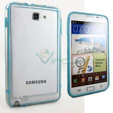 BUMPER Azzurro Trasparente per Samsung Galaxy Note 1 N7000 i9220 custodia cover