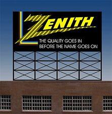 Miller's Zenith Billboard Animated Neon Sign  O/HO Scale MILLER ENGINEERING