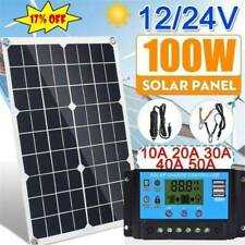 100W Solar Panel kit 12V battery Charger 10/20/30/40A Controller Caravan Boat RV