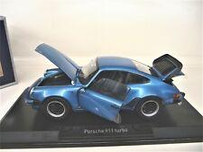 1:18 NOREV PORSCHE 911 Turbo 3.3 enzian blau blue NEU NEW