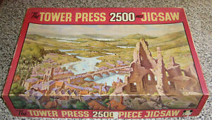 vintage 2500 Piece cardboard Jigsaw Puzzle Across the Valley by Tower Press