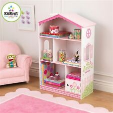 Kidkraft 14604 Kids Dollhouse Cottage Bookcase Pink White Book Shelf New