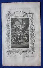 Original antique print CRUELTIES OF ANTIOCHUS, Dr. Southwell's Bible, 1774