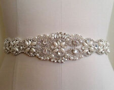High-end Pearls Crystal Sash Transparent Ribbon Wedding Dress Rhinestone Belt**