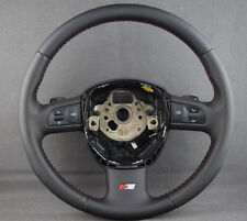 Audi A6 C6 4F 2005-2008 4F0419091 Steering Wheel Paddle Shifters S-Line Stiching
