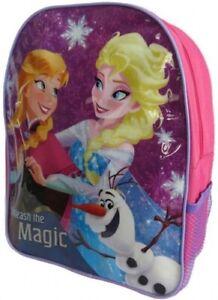 "Official Disney Frozen Elsa Anna Olaf ""Unleash the Magic"" Backpack Rucksack Bag"