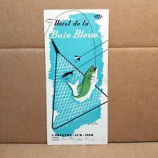 1950s Hotel de la Baie Bleue Travel Brochure Carleton sur Mer Quebec Canada