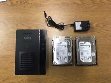 Lenovo EMC IX2 NAS Network Attached Storage 2TB 2 X 1TB RAID