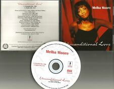 MELBA MOORE Unconditional Love w/ EXTEDED MIX & RADIO EDIT USA CD single 1996