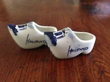 Pair Vintage Delft China Clogs from 1970s