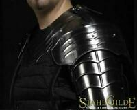 """Larp, fantasy, medieval, costume, steel armour: The gorget with shoulders""""Gothic"""