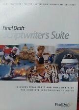 Final Draft Screenwriter Software Version 7 + AV v2 Mac-Universal-Windows Script