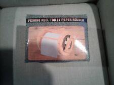 Wood Fishing Reel Toilet Paper Holder