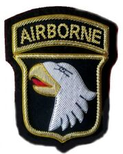 US ARMY 101ST AIRBORNE COMBAT IDENTIFICATION ID BADGE HAND EMBROIDERED - CP MADE