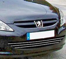 PEUGEOT 307 HB SW CC 3B 3H 3E 3A/C CHROME Kit Front Grille Covers 3M Trim Tuning