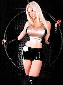 LATEX Hotpants - sexy Hose für SIE & IHN in SCHWARZ - Größe zur Auswahl
