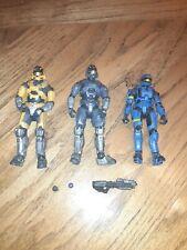 Halo reach 3 Mcfarlane action figure lot of 3 figures spartan