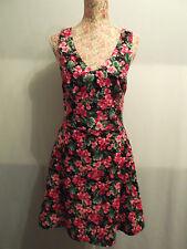 Cotton V-Neck Casual Floral Dresses for Women