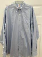 Brooks Brothers Men's Blue Striped Non Iron Dress Shirt Sz 17 1/2 - 36 - EUC!