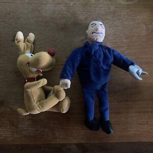 "Vintage Disney Store: Inspector Gadget 8"" Mini Bean Bag Plush: Claw & Brain Lot"
