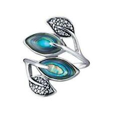 925 Sterling Silver Genuine Abalone Leaf Ring by Avon Size 6 NewNBox Free Ship